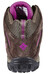 Columbia Redmond Shoes Women Mid WP mud / intense violet